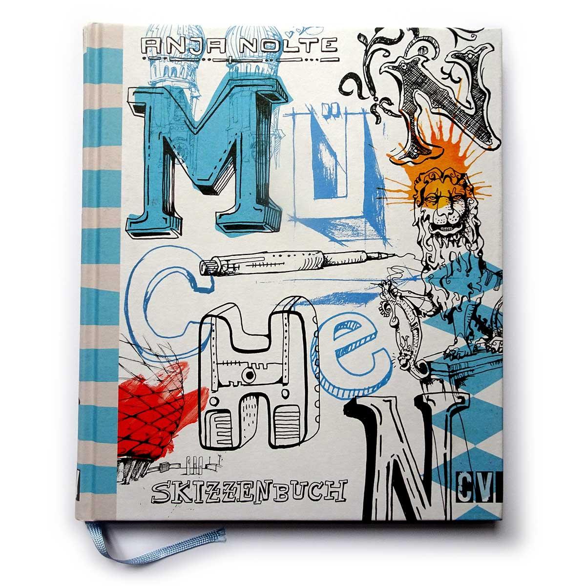 Cover Buch Urban Sketching Muenchen von Anja Nolte