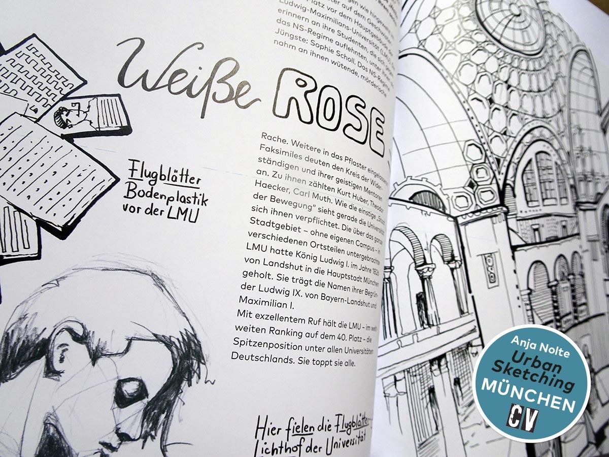 Detailansicht / Zeichnungen aus dem Buch Urban Sketching München von Anja Nolte, erschienen bei Christophorus Verlag © Anja Nolte www.anjanolte.com