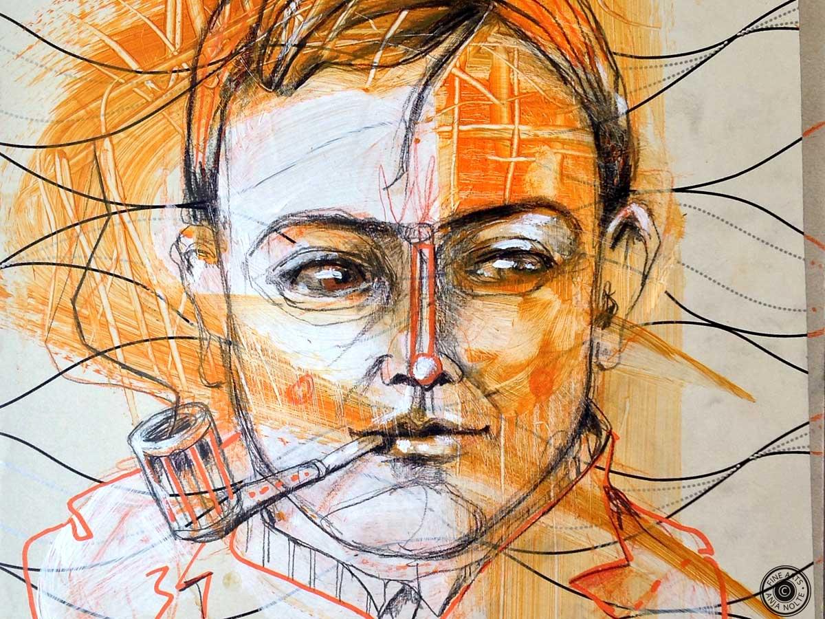 Portrait August Macke Detail