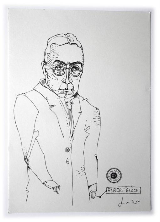 Portätzeichnung des Künstlers Albert Bloch