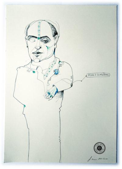 Porträt Komponist Arnold Schönberg