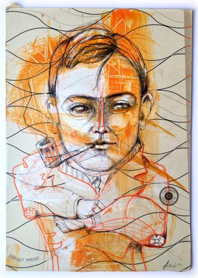 Porträt des Künstlers & Mitgründers der Redaktion Blauer Reiter.
