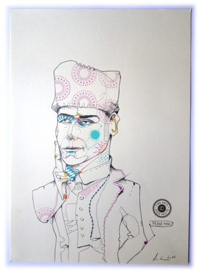 Porträt des Gründers der Redaktion Blauer Reiter