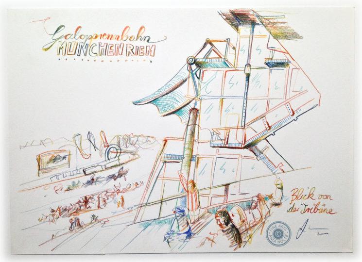 Zeichnung Galopprennbahn Riem