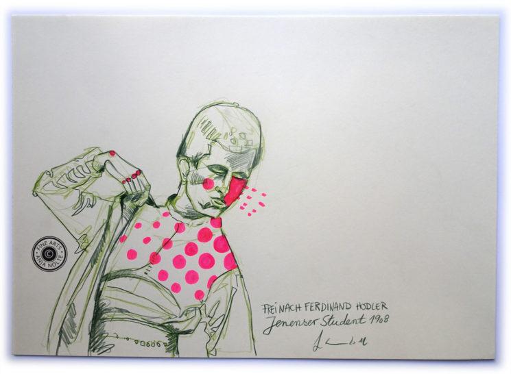 Studie zu Ferdinand Hodlers Bildnis des Jenenser Studenten in der Pinakothek der Moderne