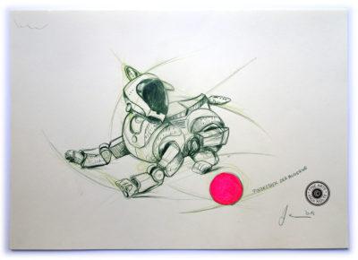 Studie Exponat in der Pinakothek der Moderne.