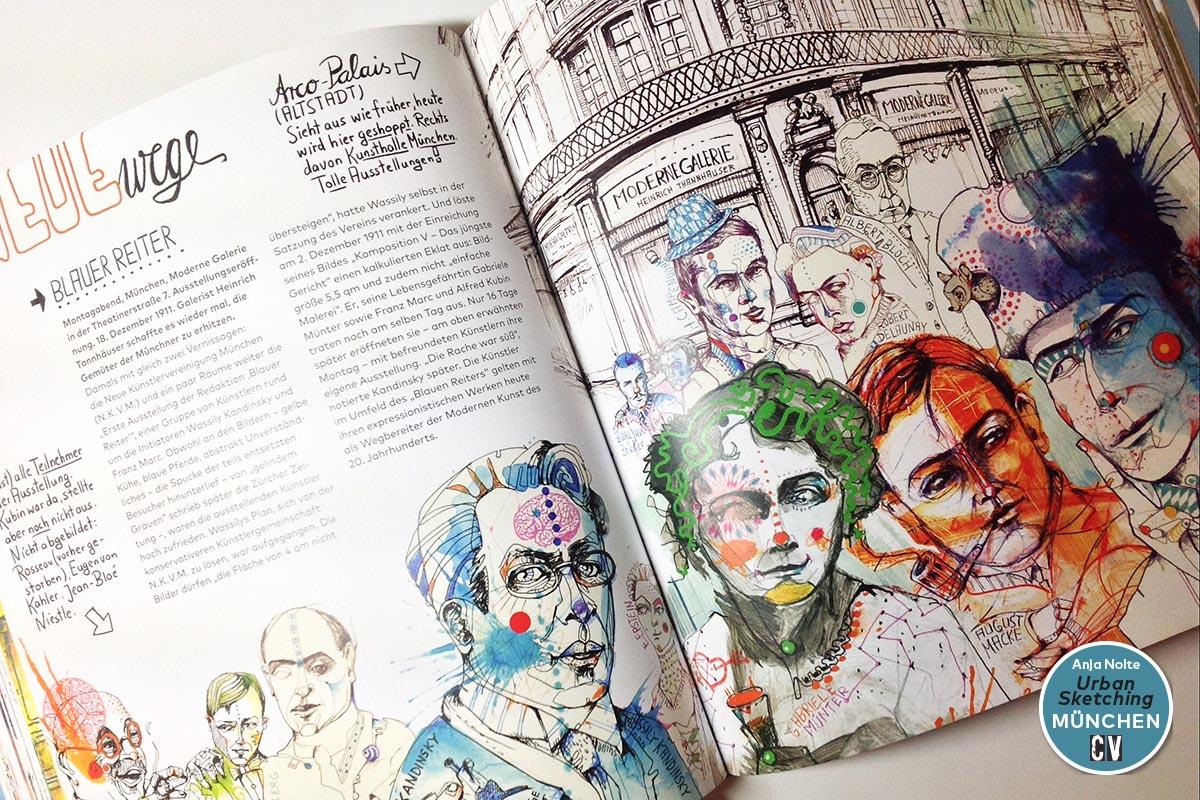 Award für Urban Sketching München*, Blauer Reiter durch Creative Quarterly