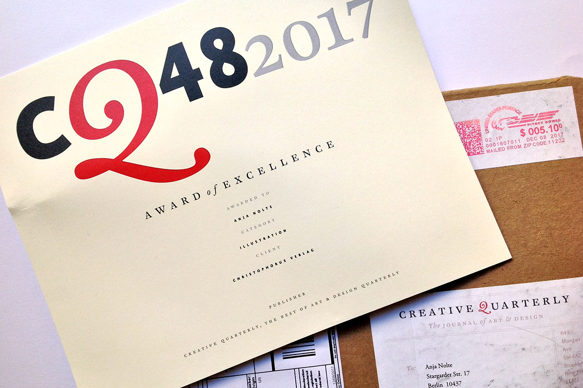 Award für Urban Sketching München*, Blauer Reiter durch Creative Quarterly USA *Autorin und Illustration Anja Nolte
